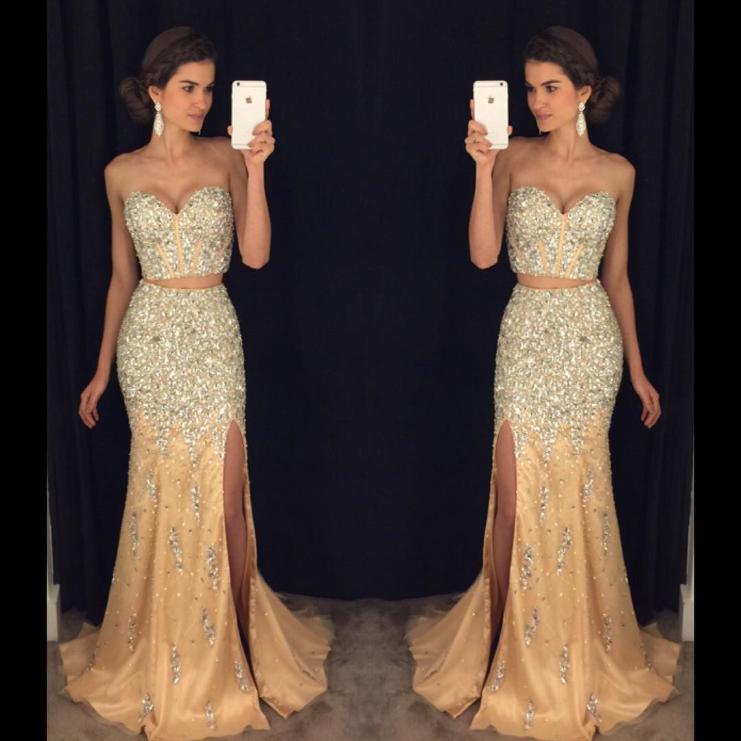 cf3b8621088b5 Prom Dress,Modest Prom Dress,Sparkly Prom Dresses,Pageant Gowns,Two Piece  Prom Dresses,Mermaid Evening Dress,Long Prom Dresses 2017,Prom Dresses Long  ...