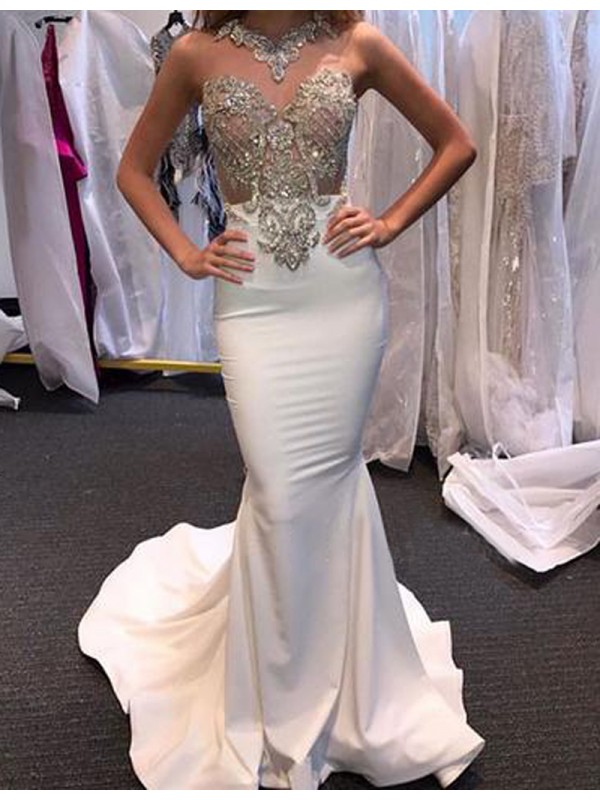 Long White Prom Dress 8e6ee31ad869