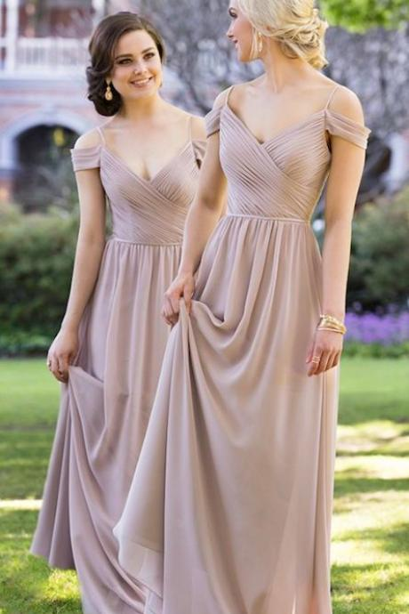 Bridesmaid Dresses,Bridesmaid Dresses Long,Chiffon Bridesmaid Dresses,Spaghetti Straps Bridesmaid Dresses,Bridesmaid Dresses A-line,Bridesmaid Dresses Plus Size,Sexy Wedding Party Gowns