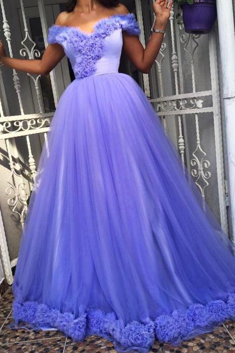 Romantic Prom Dresses ,Off Shoulder Prom Dresses,A Line Prom Dresses,Formal Evening Dresses,Long Tulle Prom Dress