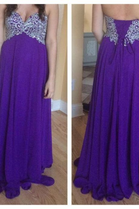 Prom Dress,Prom Dresses,A-line Prom Dresses,Chiffon Formal Gowns,Chiffon Prom Dresses Long, Prom Dress Long,Sweetheart Prom Dresses,Prom Dresses 2016,Sexy Party Dress,Long Chiffon Prom Dresses,Purple Prom Dresses,Prom Dresses 2016